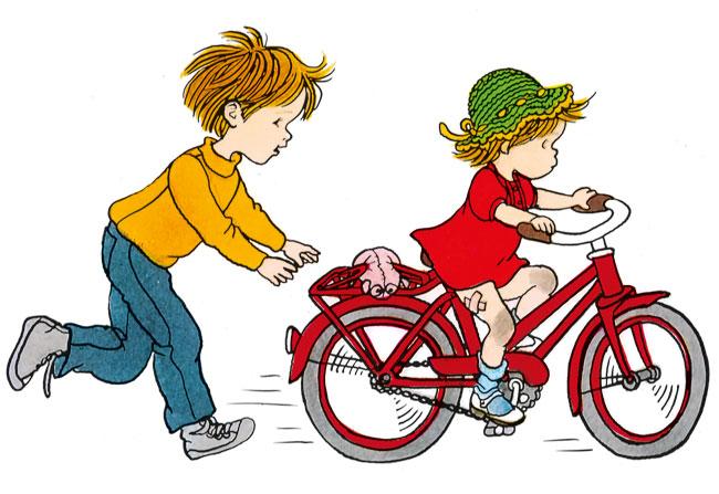 Lotta si bicicleta, de Astrid Lindgren, ilustratie de Ilon Wikland